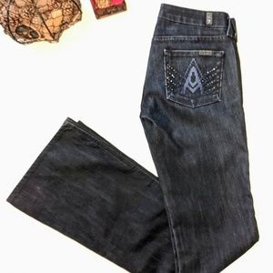 7ForAllMankind Dark Wash A Pocket Bootcut Jeans 26